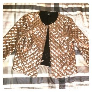 Gold open front cardigan